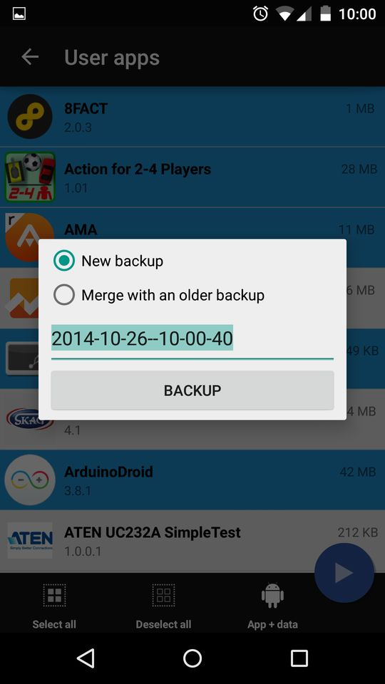greece android backup για backup εφαρμογών και data στο android 5 0 lollipop