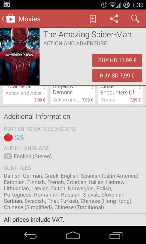 how to play movies from google play