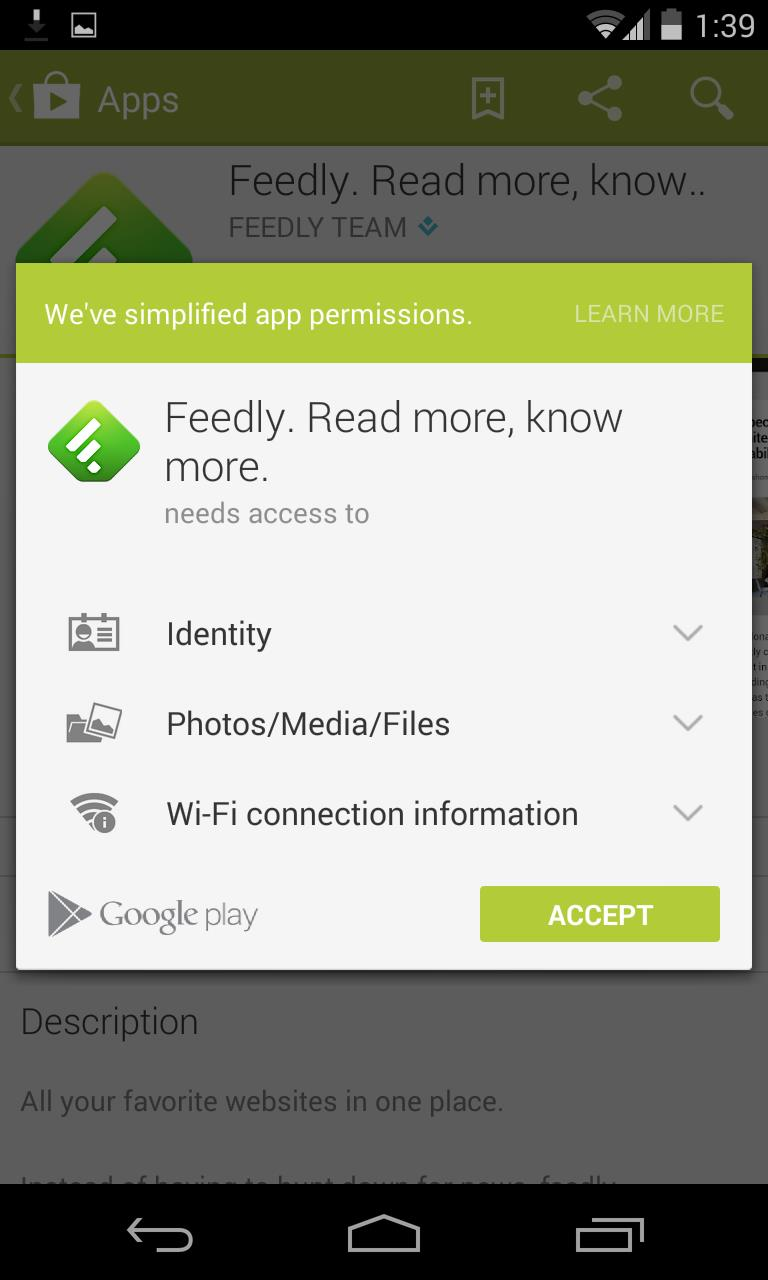 Google Play Permissions