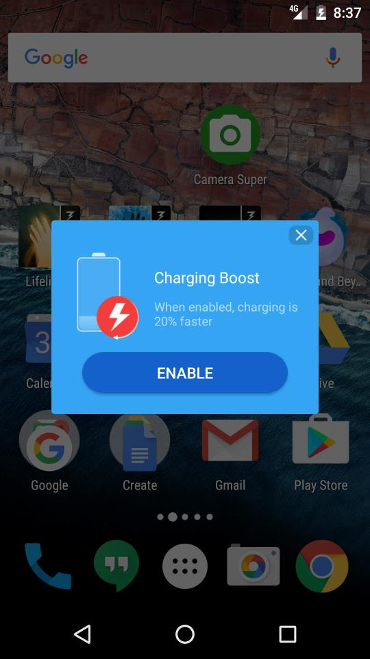 ES File Explorer Charge booster
