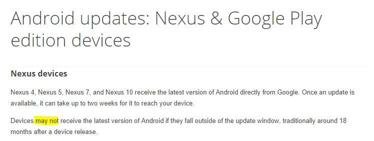 Android L Nexus Updates
