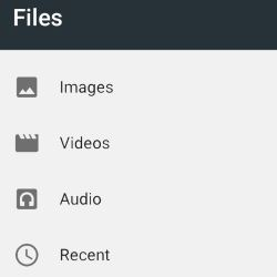 Android N File Manager